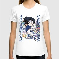 sasuke T-shirts featuring Chibi Sasuke Uchiha by Neo Crystal Tokyo