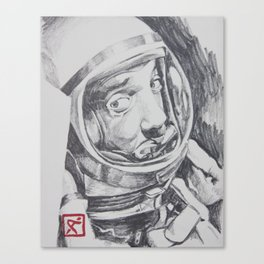 Astronaut in a Panic Canvas Print