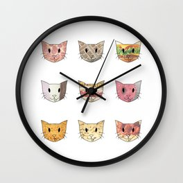 Food & Cats Wall Clock
