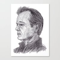 bill murray Canvas Prints featuring Bill Murray by jamestomgray