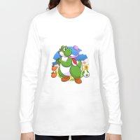 yoshi Long Sleeve T-shirts featuring Yoshi! by DoberJam