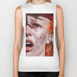 Leeloo Played By Milla Jovovich - The Fifth Element Biker Tank