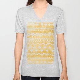Loose bohemian pattern - yellow Unisex V-Neck