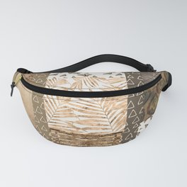 Golden Python Butterfly Patchwork Fanny Pack