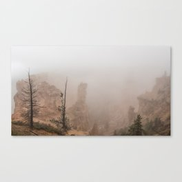 Bryce Canyon Obscured Canvas Print