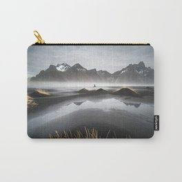 """""""Excite"""" - A Moody Morning (Vestrahorn, Iceland) Carry-All Pouch"""