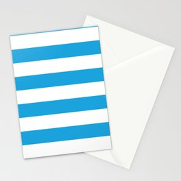Oktoberfest Bavarian Blue and White Large Cabana Stripes Stationery Cards