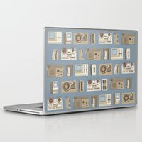 technology Laptop & iPad Skins featuring Obsolete Technology by Daniel long Illustration