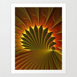 The Closed Door, Abstract Fractal Art Art Print