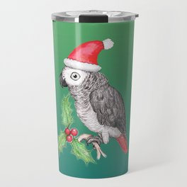 Christmas African grey parrot Travel Mug