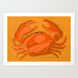 Crabe on the beach Art Print