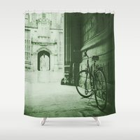 jewish Shower Curtains featuring Break Time by Brown Eyed Lady