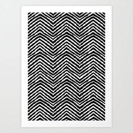 Chevron, Abstract, Minimal, Pattern, Nursery, Kids, Modern art Art Print