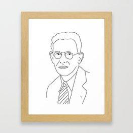 Edward Sapir Framed Art Print