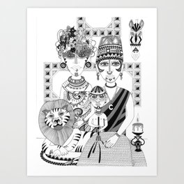 Wild People Art Print