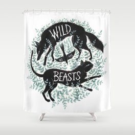 We Are Wild Beasts Shower Curtain