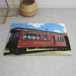 Red Railroad Car - Cumbres And Toltec Rug