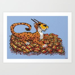 Hot Cheeto Hoard Art Print