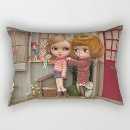 Erregiro Blythe Custom Doll Play Garden Rectangular Pillow