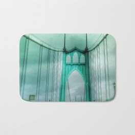 St John's Bridge Portland Oregon Bath Mat