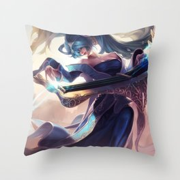 Classic Sona League Of Legends Throw Pillow