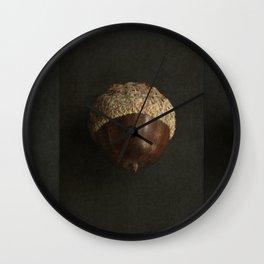 Little Brown Acorns Wall Clock