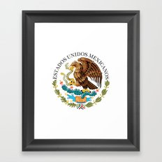 Coat of Arms & Seal  of Mexico on white  Framed Art Print