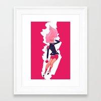 utena Framed Art Prints featuring REVOLUTIONARY GIRL by SMOKESINATRA
