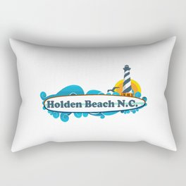 Holden Beach - North Carolina. Rectangular Pillow