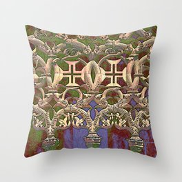 Gothic tracery. Batalha Throw Pillow
