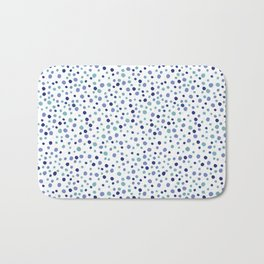 Bubble Rocks-Blue : Part of Organic Medallion collection Bath Mat