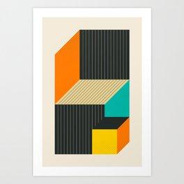 CUBES (6) Art Print