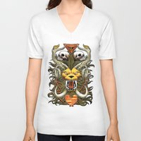 kitty V-neck T-shirts featuring Kitty by 110specialblack