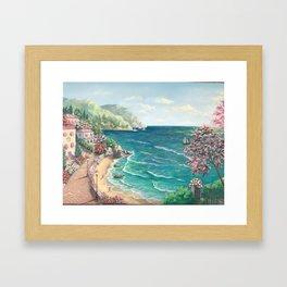 Sunny island, Framed Art Print