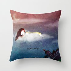 Living in the clouds Throw Pillow