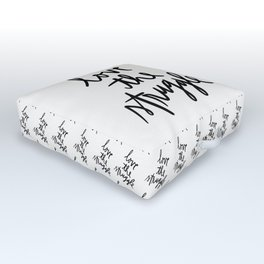 Love the Struggle - Black and White Outdoor Floor Cushion