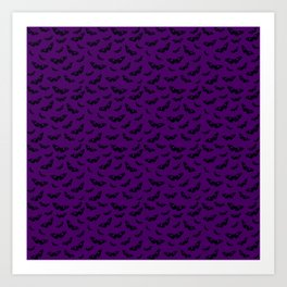 Petite Butterflies on Purple Background Art Print