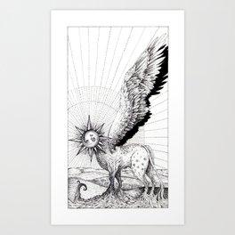 Tarot - The Sun Art Print