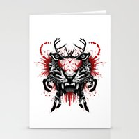 predator Stationery Cards featuring Predator by Enkel Dika