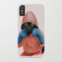 boxing iPhone & iPod Cases featuring Boxing Cat 2  by Tummeow