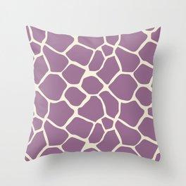 Giraffe Pattern Animal Print (purple) Throw Pillow