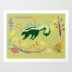 Skunky Wonderland Art Print