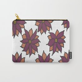 Holiday Two-Toned Flowers Carry-All Pouch