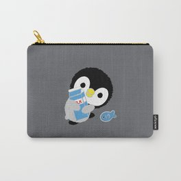 "Fluffy Little Penguin ""Milk"" Carry-All Pouch"
