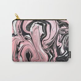 Rose gold & black ink Carry-All Pouch