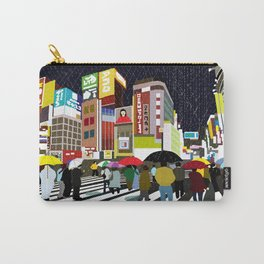 Umbrellas in Tokyo Rain Carry-All Pouch
