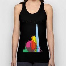 Shapes of London. Accurate to scale Unisex Tank Top