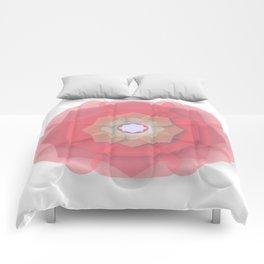 Pink Floral Meditation Comforters