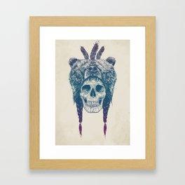 Dead shaman Framed Art Print