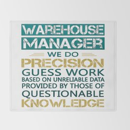 WAREHOUSE MANAGER Throw Blanket